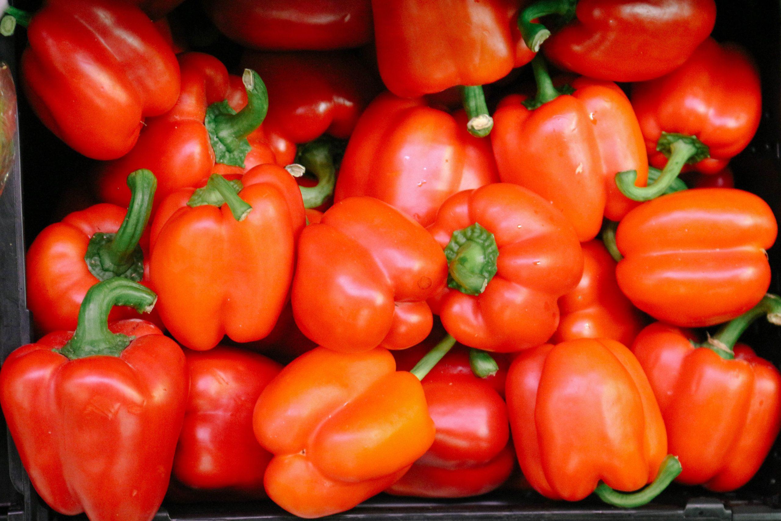Gefüllte Paprika mit orientalischen Gewürzen & Joghurt-Dip – köstlich, vegan & glutenfrei